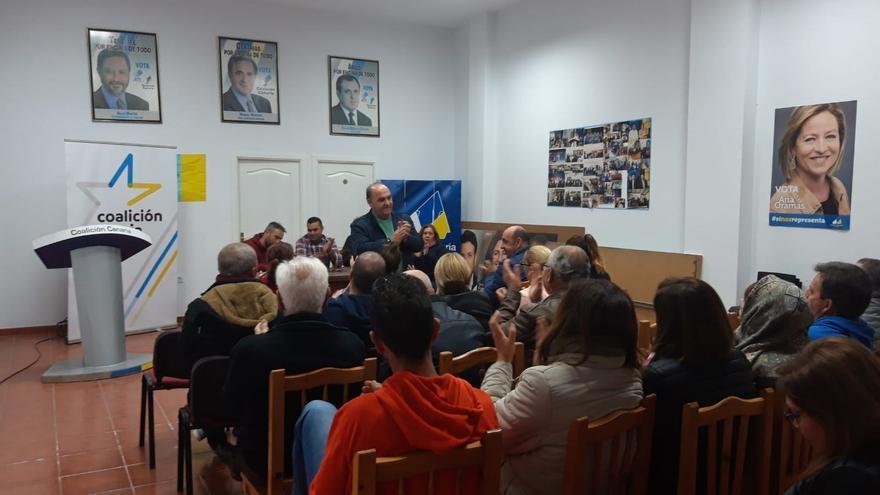 Asamblea local de CC en Arico este viernes, la que eligió a José Armas