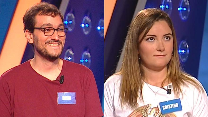David y Cristina: los concursantes que han alzado a 'Saber y ganar' como uno de los temas del día