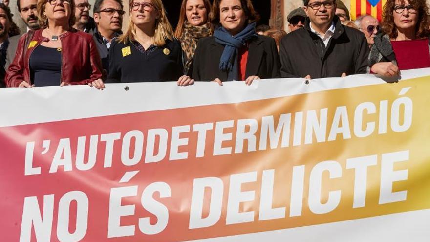 Ada Colau participó la semana pasada en una concentración contra el juicio del procés