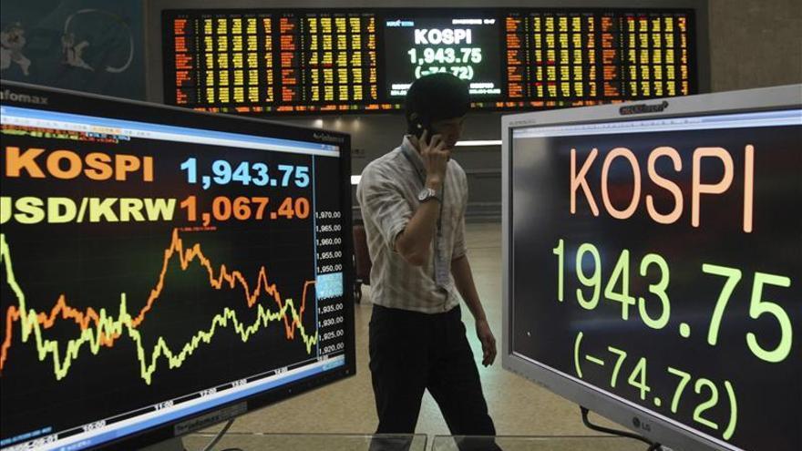 El Kospi surcoreano sube un 0,81 por ciento hasta los 1.986,59 puntos