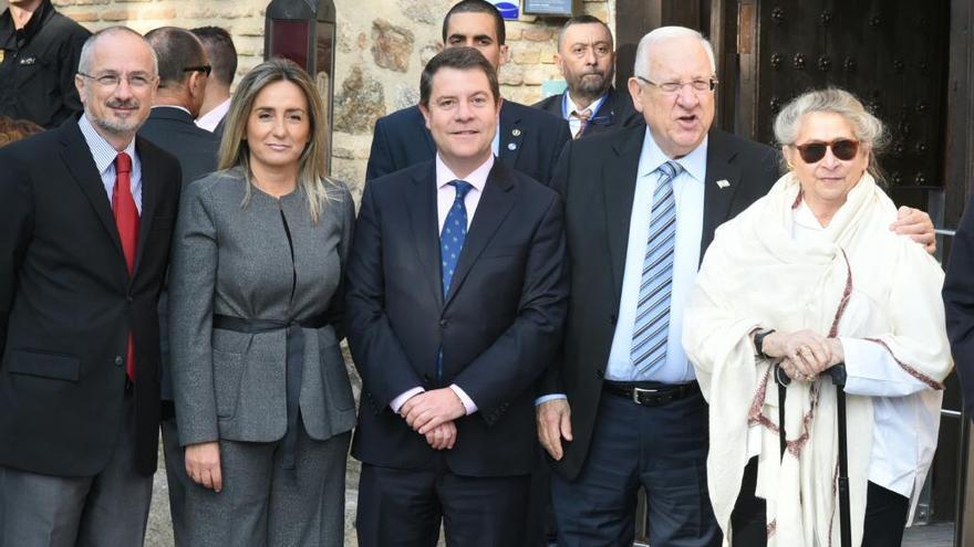 Visita del presidente de Israel a Toledo. FOTO: JCCM