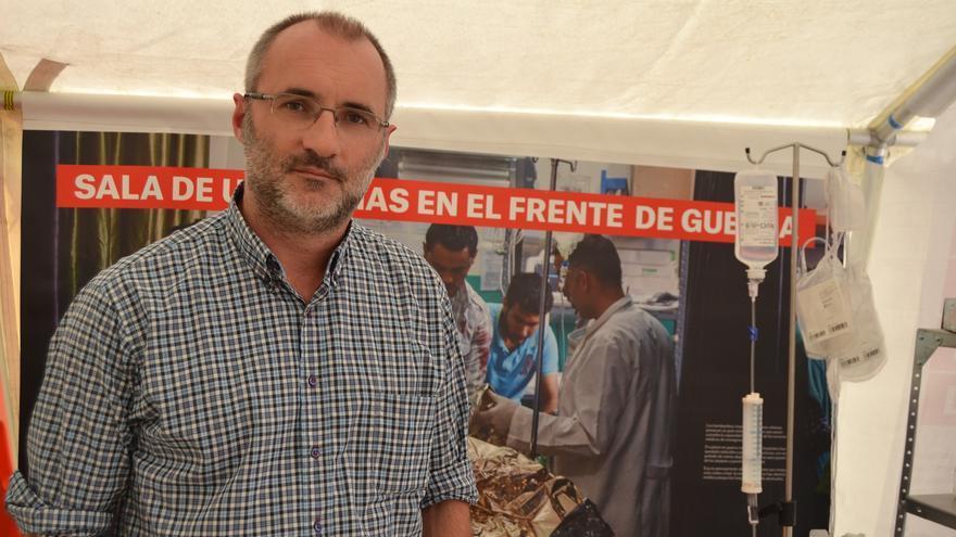 David Noguera, en la instalación #seguirconvida en Málaga   N.C.