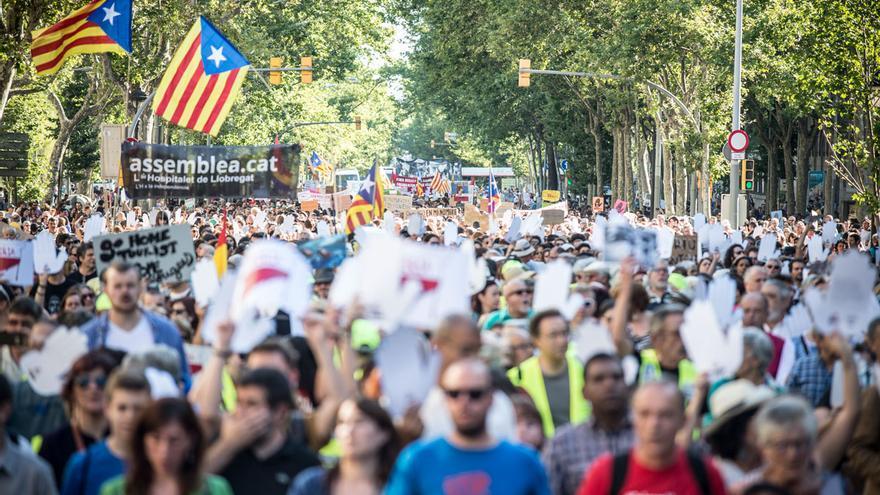 La manifestació ha aplegat 40.000 persones, segons els organitzadors