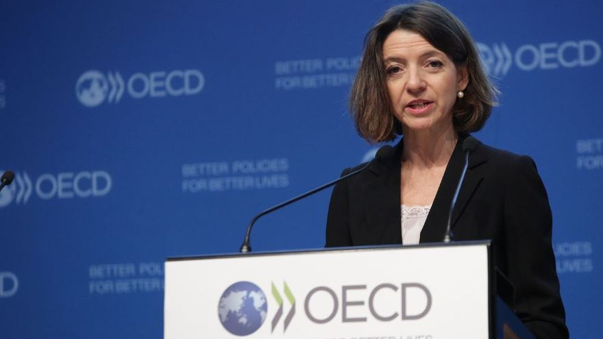 La economista jefe de la OCDE, Laurence Boone.