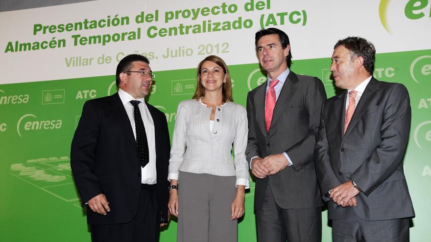 De izquierda a derecha José María Sáiz,Dolores de Cospedal, José Manuel Soria y Francisco Gil Ortega