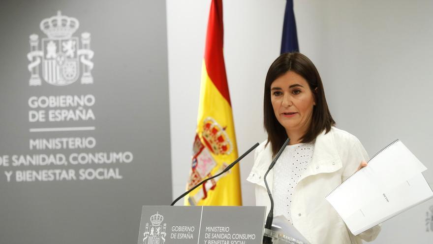 La ministra de Sanidad, Consumo y Bienestar Social, Carmen Montón, ha negado hoy las irregularidades en la obtención de su máster sobre estudios de género desveladas por eldiario.es