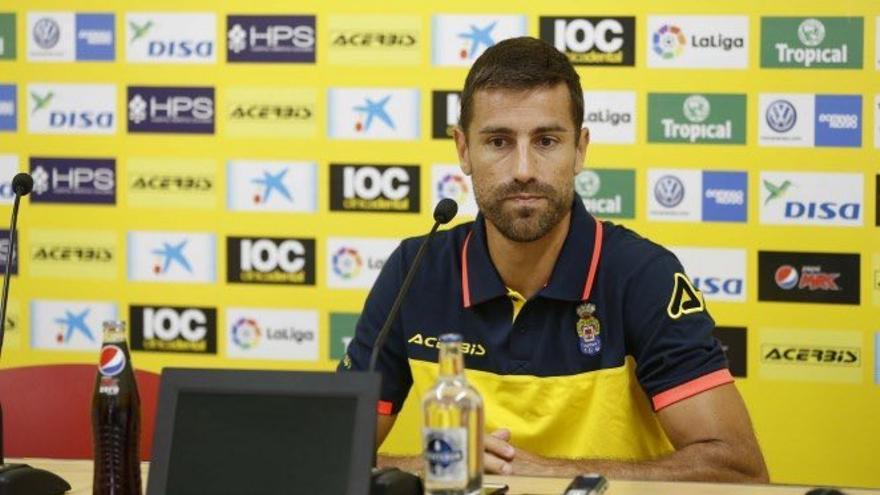 El jugador de la UD Las Palmas, David García.