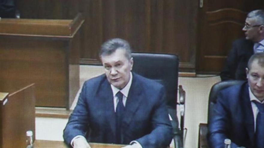 Aplazan el interrogatorio de Yanukóvich por vídeo conferencia desde el exilio ruso