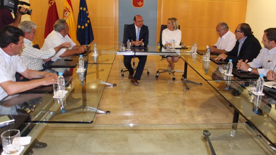 Pedro Antonio Sánchez y organizaciones agrarias