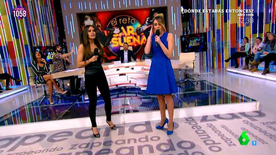 Vídeo: Pedroche y Anna Simon ensayan Lo malo en Zapeando