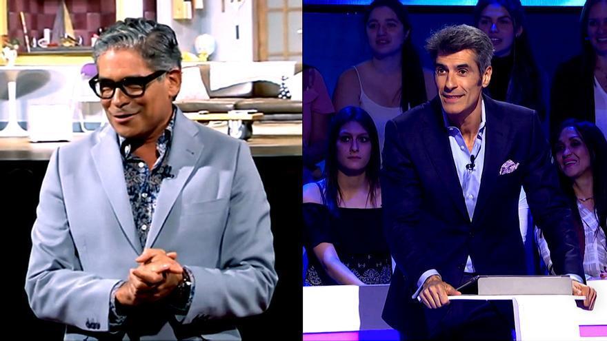 Boris Izaguirre ayer en 'Lazos de sangre' / Jorge Fernández anoche en 'El juego de los anillos'