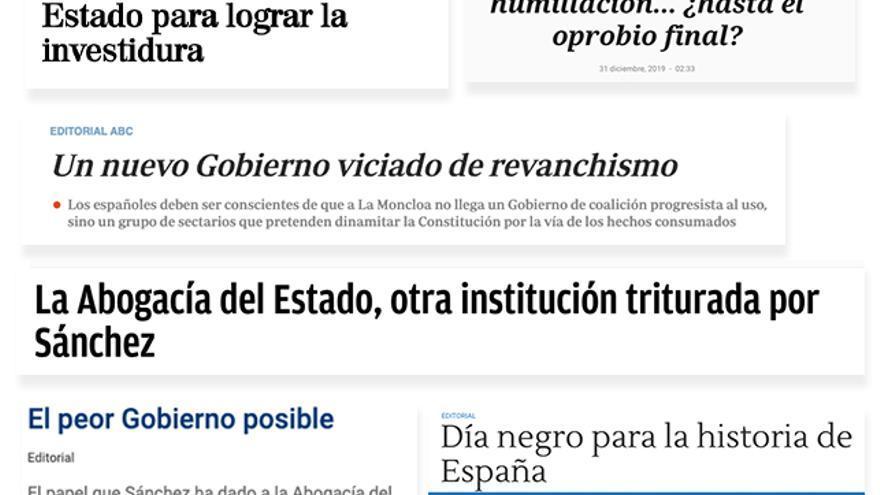 Resumen de los titulares de la prensa de derechas / Pablo J. Álvarez