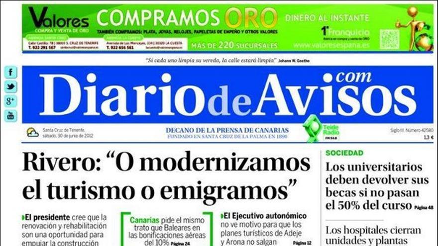 De las portadas del día (30/06/2012) #14