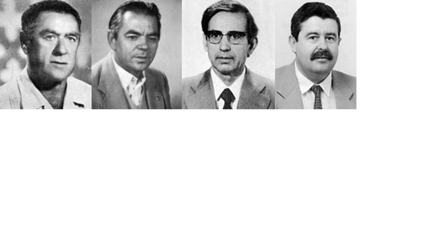 De izquierda a derecha: Francisco Cabral, Julián Chía, Manuel Benítez Rufo y Antonio Romero.