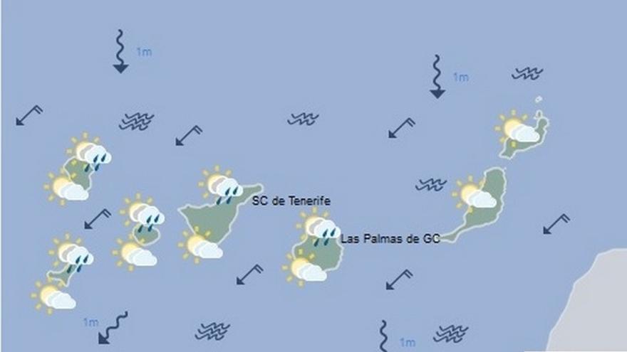 El tiempo en Canarias para este domingo, 13 de noviembre de 2016