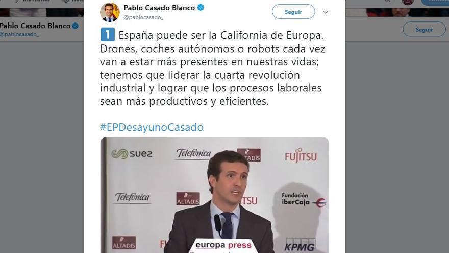 Pablo Casado y California