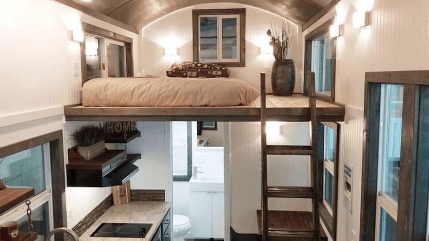 Interior de una minicasa.