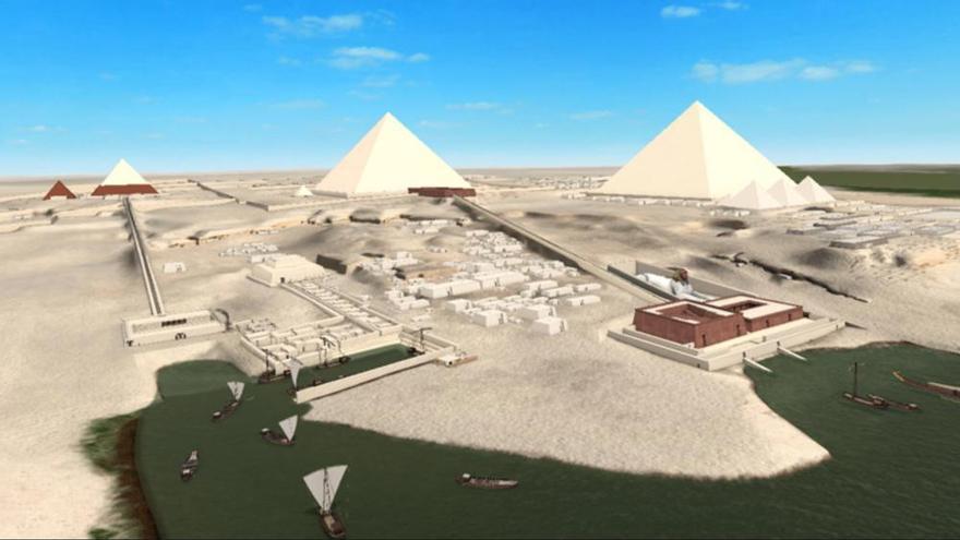Las pirámides de Giza en 3D
