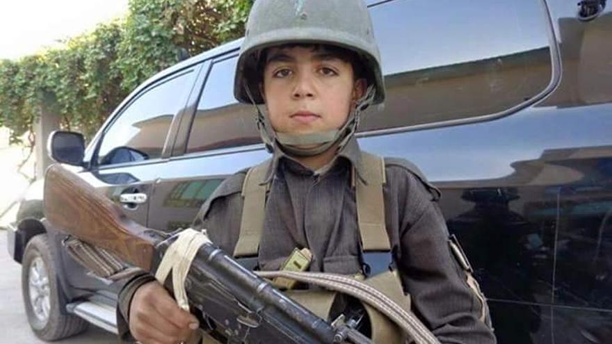 Wasil Ahmad, el niño soldado que se ha convertido en un mártir en Afganistán/ Foto: Twitter