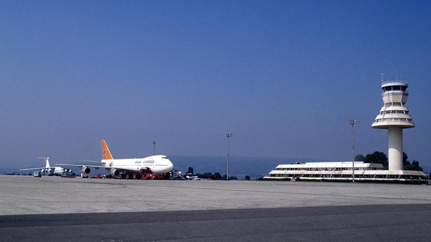 Vista del aeropuerto de Foronda.