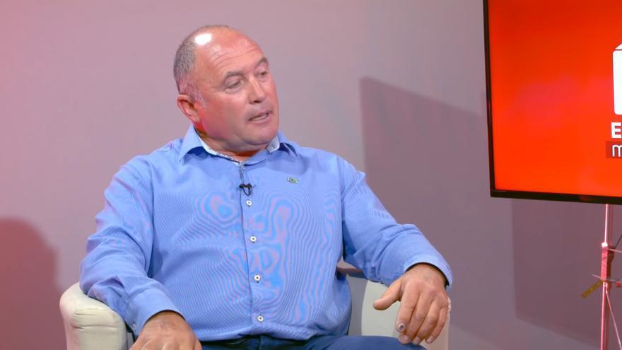 El candidato bastetano de Vox durante una entrevista en televisión
