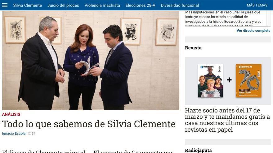Portada de eldiario.es
