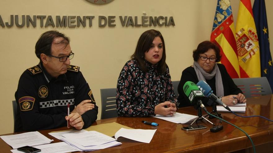 Sandra Gómez, durante la rueda de prensa