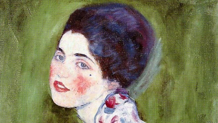 'Retrato de una dama', Gustav Klimt