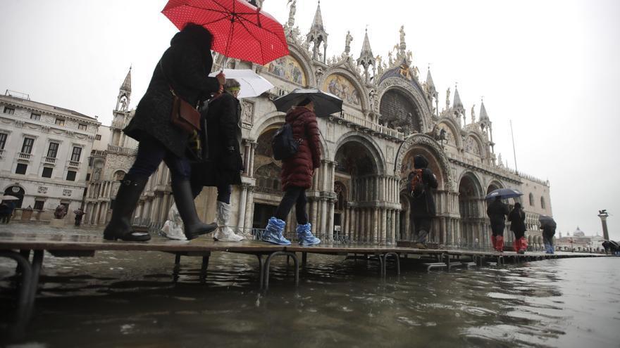 La plaza de San Marcos inundada