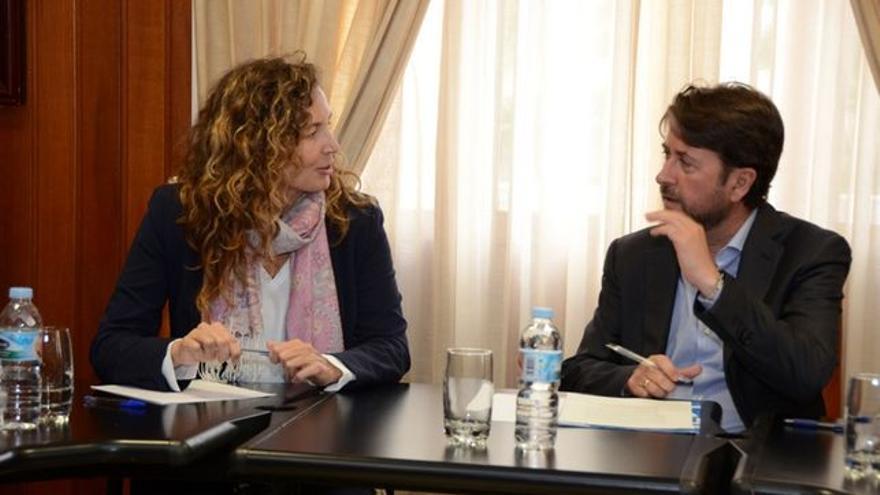 Ornella Chacón y Carlos Alonso, en una reunión reciente