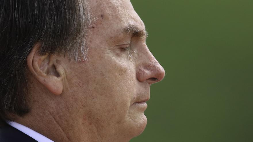 Presidente Jair Bolsonaro, justo después de tomar posesión en el Congreso Nacional