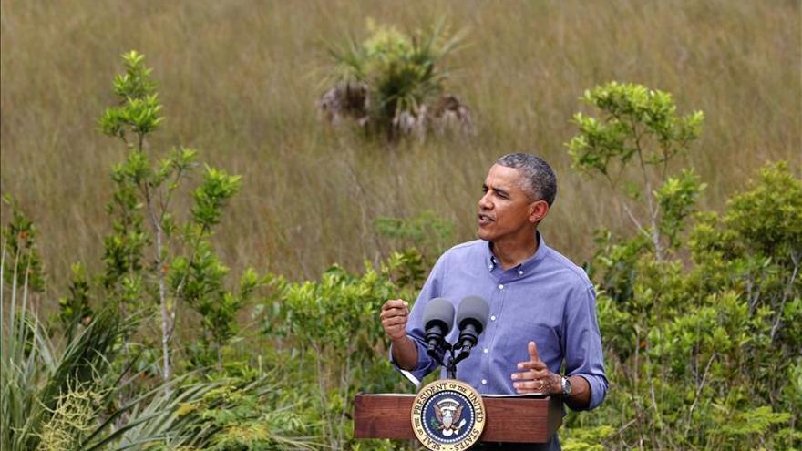 Obama arremete en Los Everglades contra los que niegan el cambio climático