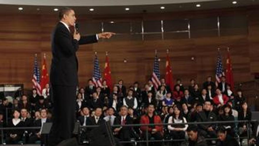 Presidente de EEUU, Barack Obama en Shangai