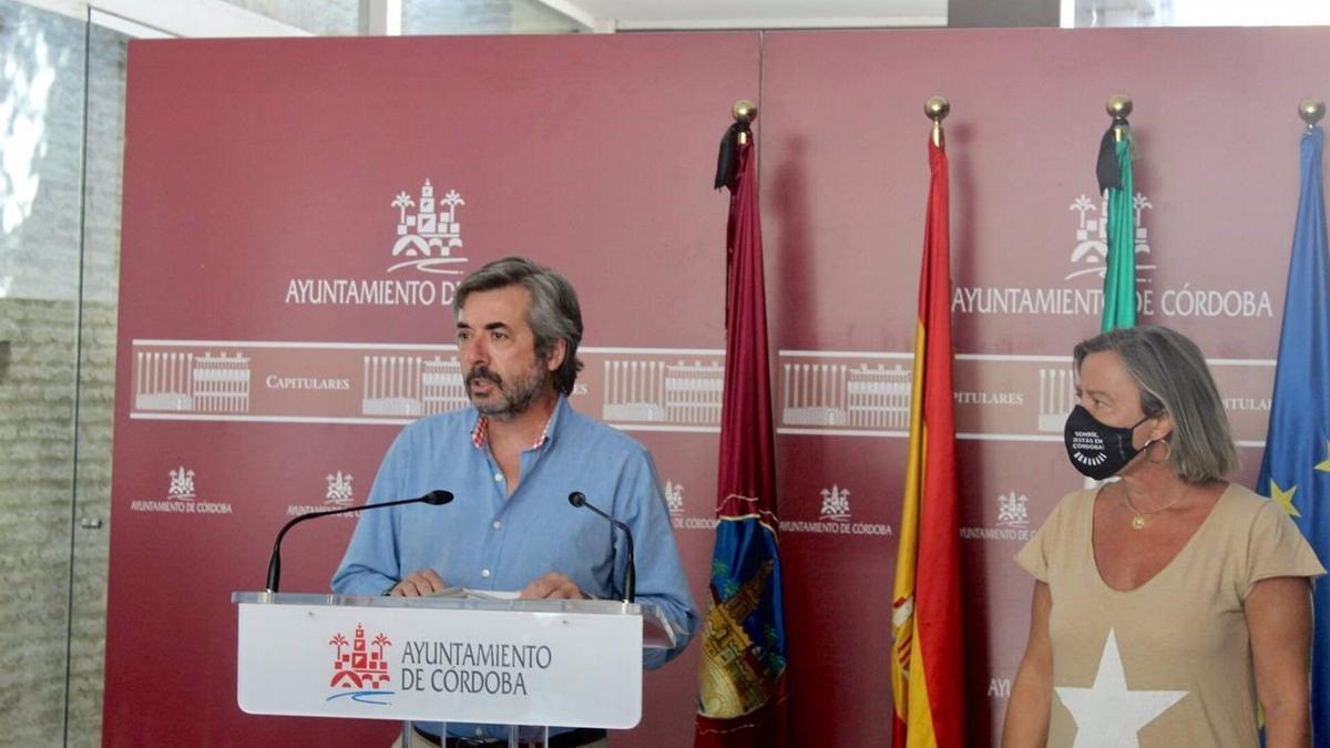 Torrico e Isabel Albás, tras la Junta de Gobierno de este lunes