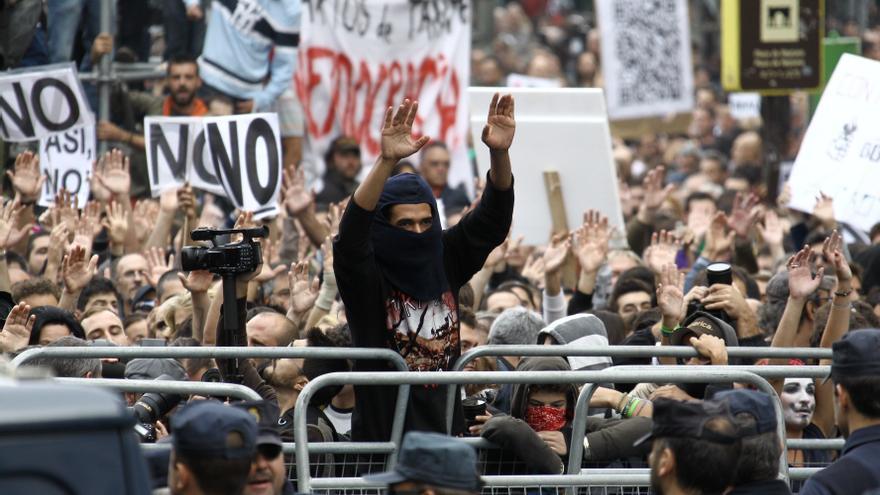 """Participantes de la manifestación """"Rodea el Congreso"""""""
