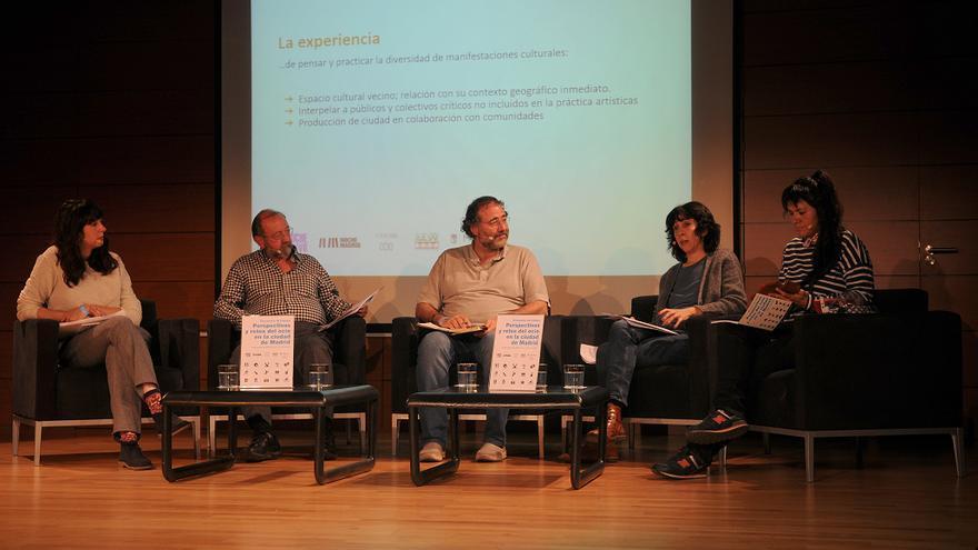 Imagen de una de las mesas de debate de las jornada Perspectivas y Retos del Ocio.