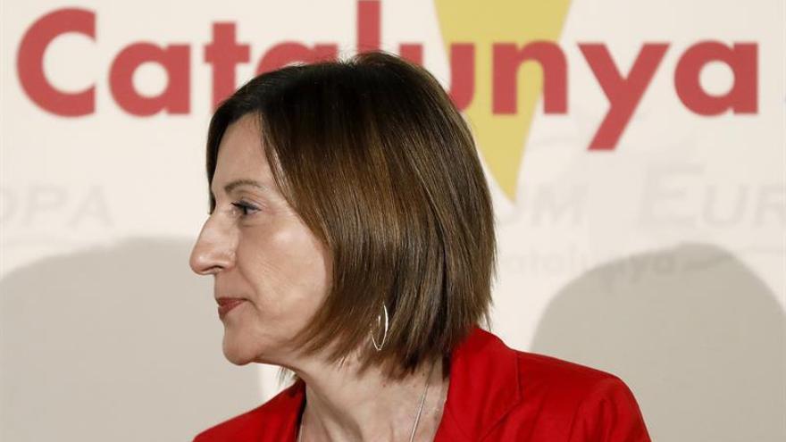 """Forcadell critica la """"escenificación"""" de la Guardia Civil en el Parlament"""