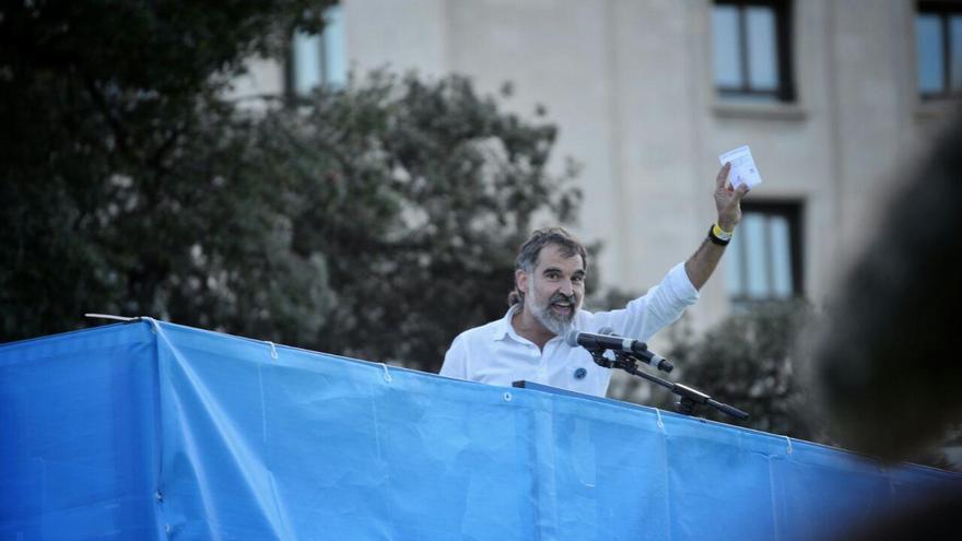 Jordi Cuixart (Òmnium), en su discurso tras la manifestación de la Diada