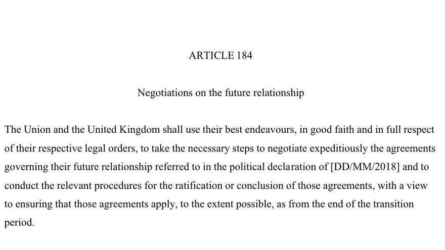 Artículo 184 del Brexit, sobre Gibraltar.