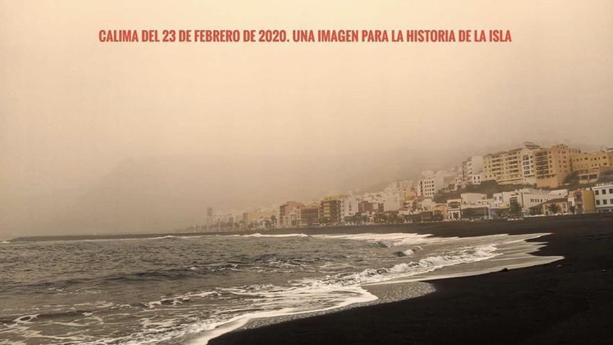 Imagen de Santa Cruz de La Palma, el domingo 23 de febrero, envuelta por la calima.