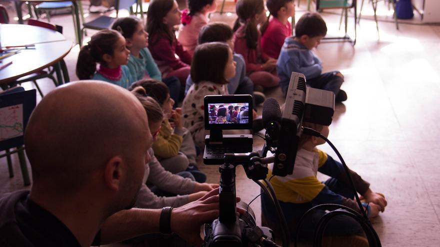 Grabación del cortometraje 'Le vivre ensemble'. | ÓSCAR BUENPOSADA
