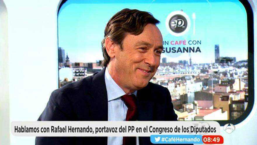 """Rafael Hernando se defiende en Espejo Público: """"No soy un machista"""""""