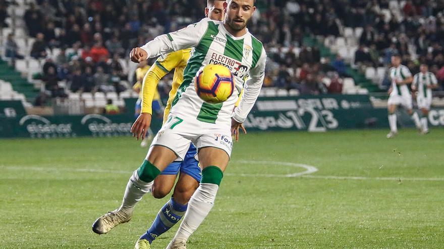 Sebas Moyano, en un partido de esta temporada en El Arcángel | ÁLEX GALLEGOS