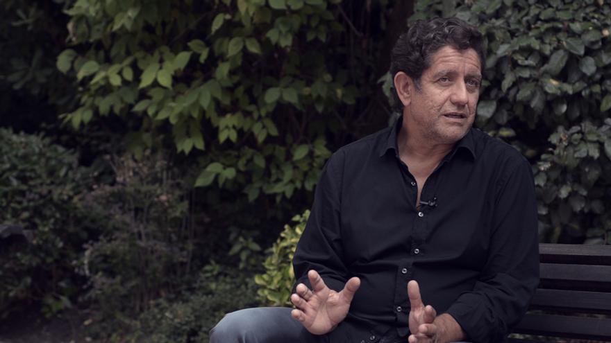 Pedro Casablanc durante la entrevista con eldiario.es