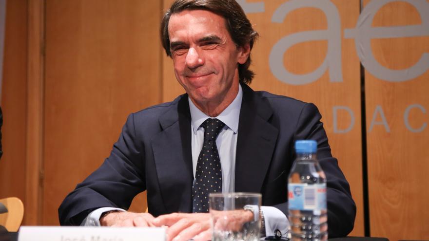 El expresidente del Gobierno, José María Aznar, en un acto de la Fundación Faes.