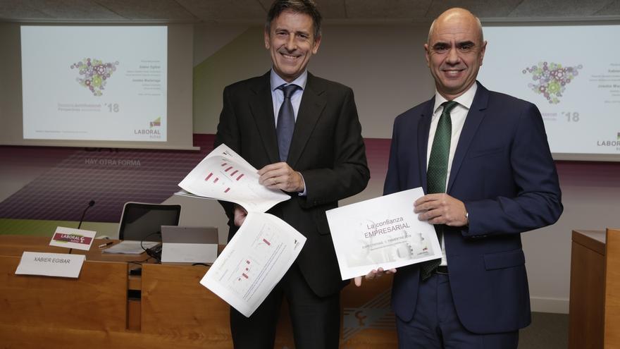 Laboral Kutxa prevé que la economía vasca crezca un 2,7% en 2018 y genere 16.000 empleos