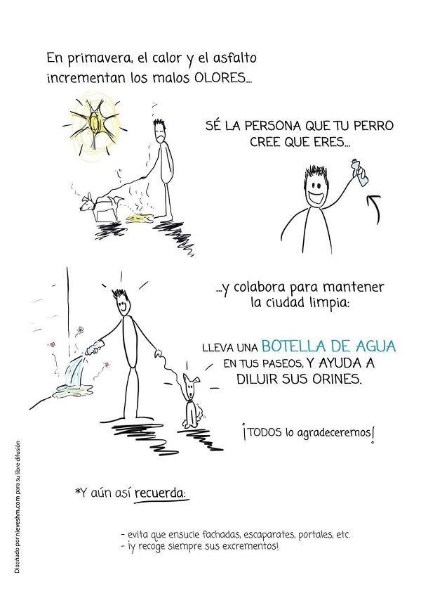 Cartel promoción de la higiene en las calles de Chueca
