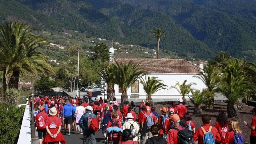 Imagen de la archivo de la 'I Caminata por la Donación de Sangre en La Palma'.