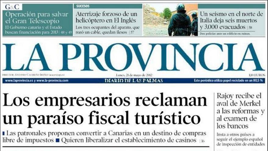 De las portadas del día (21/05/2012) #1