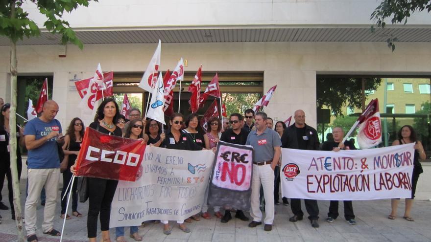 Concentración en contra del ERE de Toledo, 7 de julio